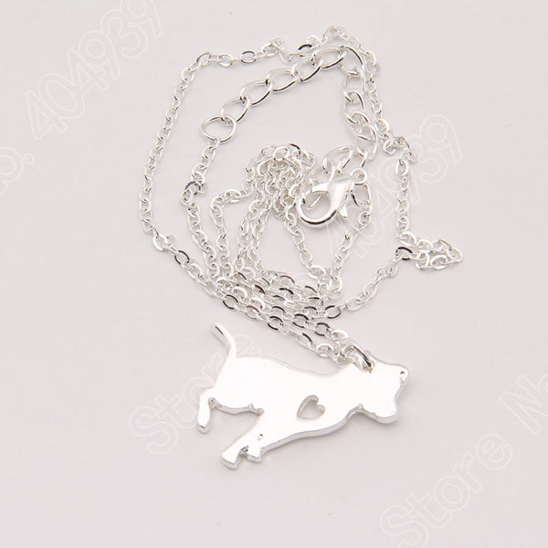 Pit Bull Heart Dog Necklace - 210 Kreations  - 4
