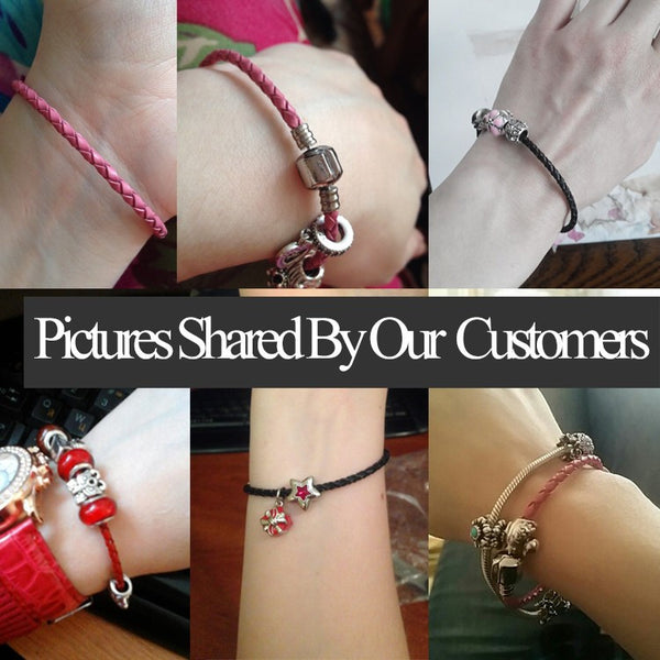Silver Clasp Leather Bracelet - 210 Kreations  - 21