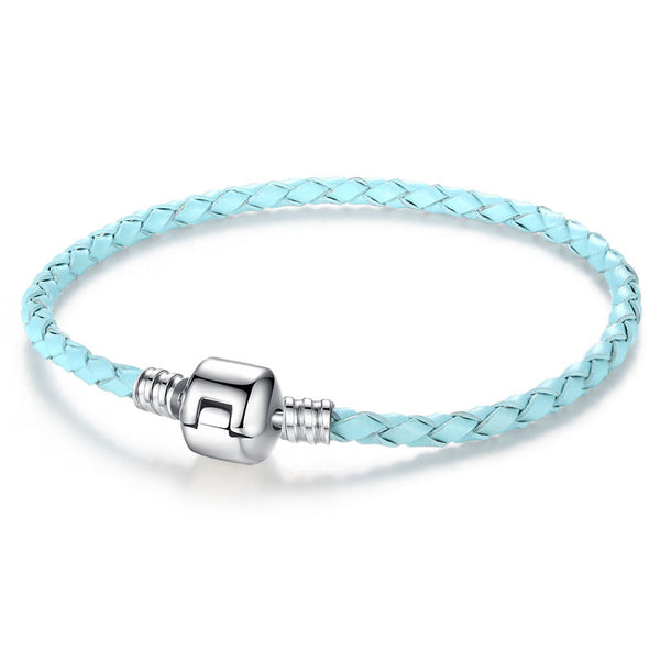 Silver Clasp Leather Bracelet - 210 Kreations  - 18