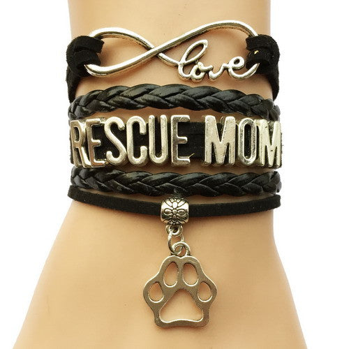 Rescue Mom Dog Paw Bracelet - 210 Kreations  - 2
