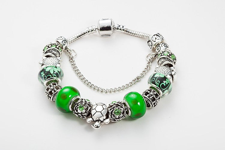 Green Sea Turtle Charm Bracelet - 210 Kreations