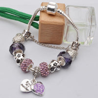 Heart/Flower Charm Bracelet - Assorted Colors - 210 Kreations  - 4