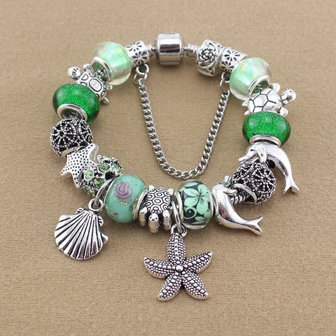 Green Sea Life Charm Bracelet - 210 Kreations
