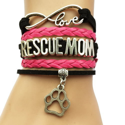 Rescue Mom Dog Paw Bracelet - 210 Kreations  - 8
