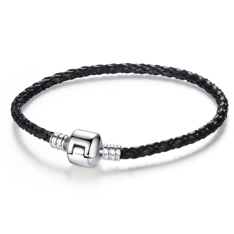 Silver Clasp Leather Bracelet - 210 Kreations  - 2