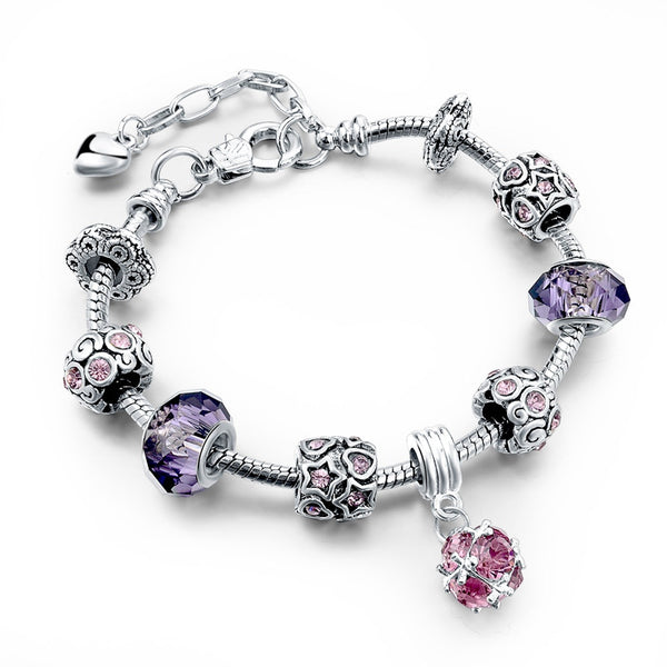 Purple Heart Charm Bracelet - 210 Kreations  - 4