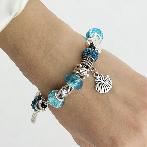 Blue Starfish Charm Bracelet - 210 Kreations  - 2