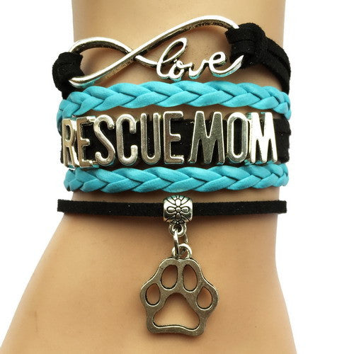 Rescue Mom Dog Paw Bracelet - 210 Kreations  - 9