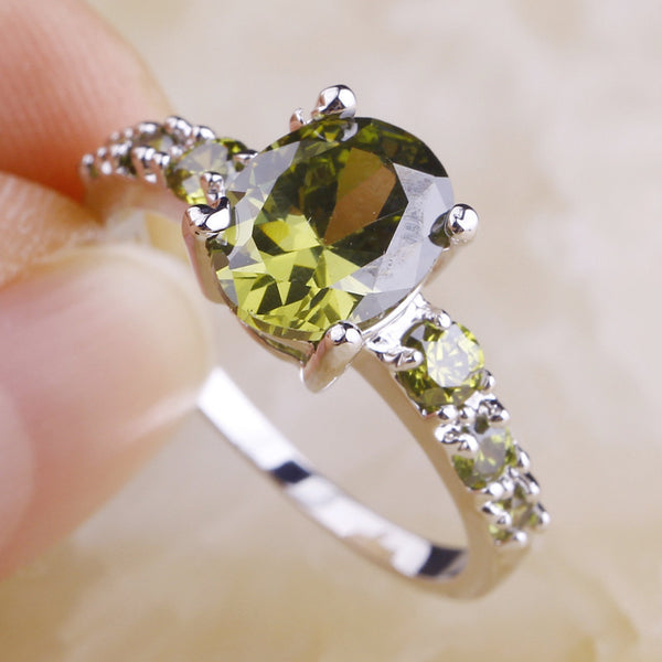 Peridot Silver Ring Size - 210 Kreations  - 3