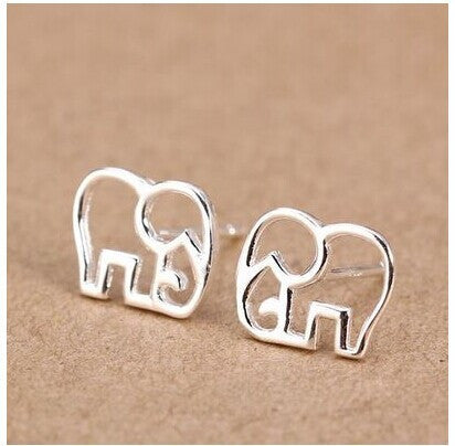 Cute Elephant Outline Earrings (Free + Shipping) - 210 Kreations  - 1