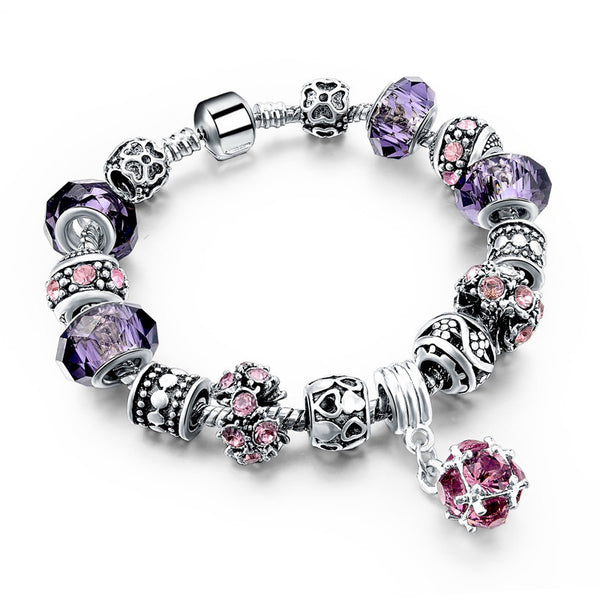 Purple Heart Charm Bracelet - 210 Kreations  - 7
