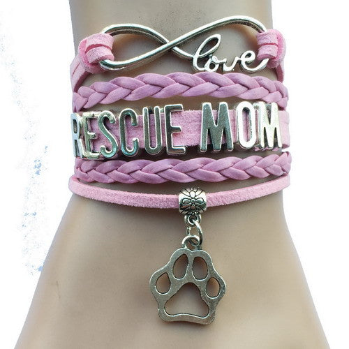 Rescue Mom Dog Paw Bracelet - 210 Kreations  - 3
