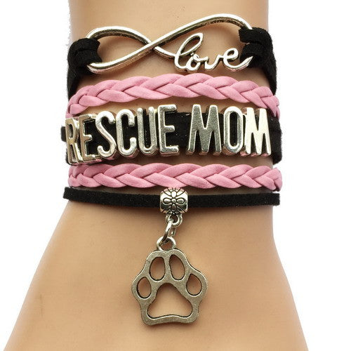 Rescue Mom Dog Paw Bracelet - 210 Kreations  - 7