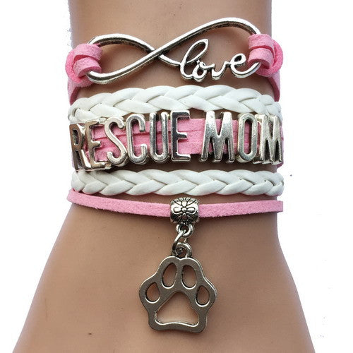 Rescue Mom Dog Paw Bracelet - 210 Kreations  - 6