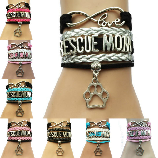 Rescue Mom Dog Paw Bracelet - 210 Kreations  - 1