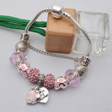 Heart/Flower Charm Bracelet - Assorted Colors - 210 Kreations  - 2