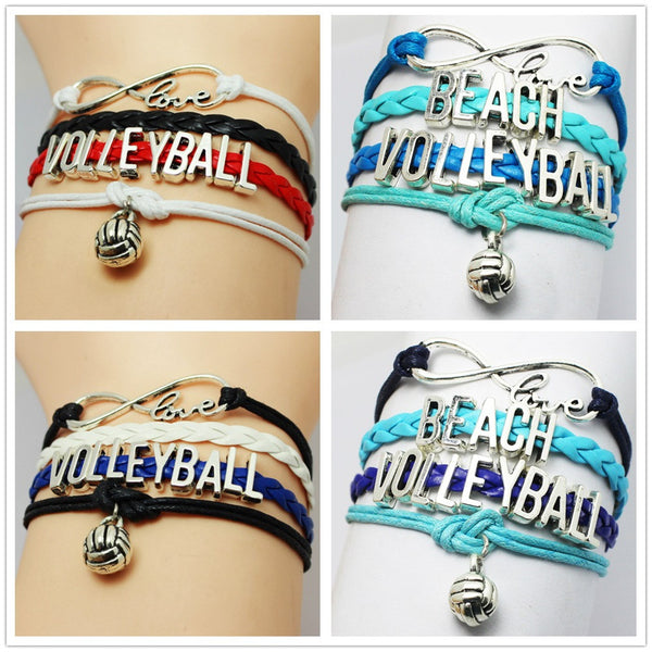 Volleyball Infinity Bracelet - 210 Kreations  - 1