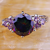 Rainbow Topaz & Amethyst Silver Ring Size - 210 Kreations  - 4