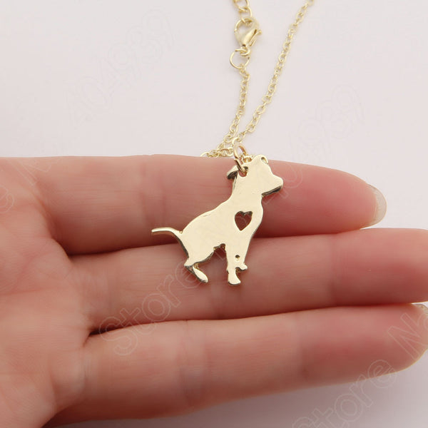 Pit Bull Heart Dog Necklace - 210 Kreations  - 1