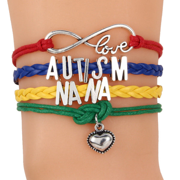 Autism Colorful Braided Bracelet - 210 Kreations  - 2