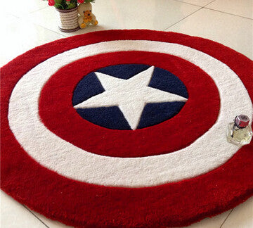 Captain America Round Rug - 210 Kreations  - 2