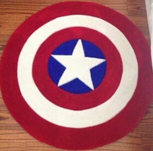 Captain America Round Rug - 210 Kreations  - 3