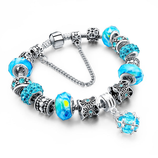 Charm Bracelet  w/Beads and Crystal - 210 Kreations  - 10
