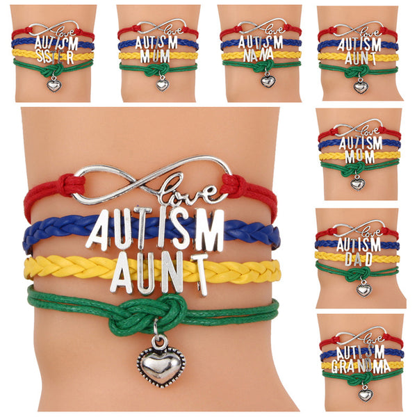 Autism Colorful Braided Bracelet - 210 Kreations  - 1
