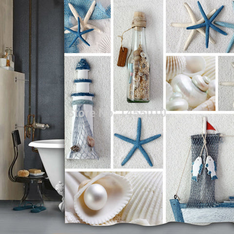 Sea Shore Shower Curtain - 210 Kreations