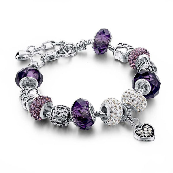 Purple Heart Charm Bracelet - 210 Kreations  - 6