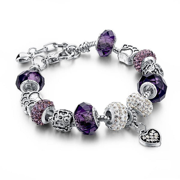 Charm Bracelet  w/Beads and Crystal - 210 Kreations  - 9