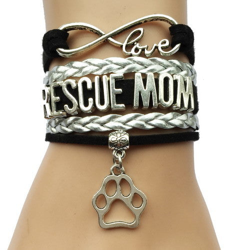 Rescue Mom Dog Paw Bracelet - 210 Kreations  - 4