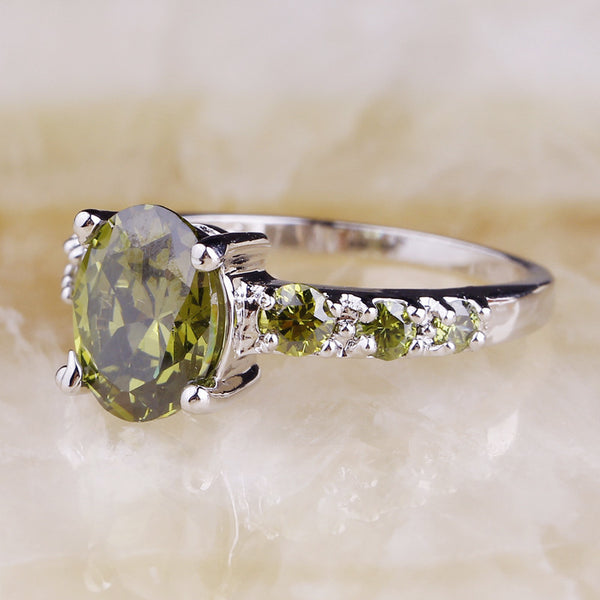 Peridot Silver Ring Size - 210 Kreations  - 2