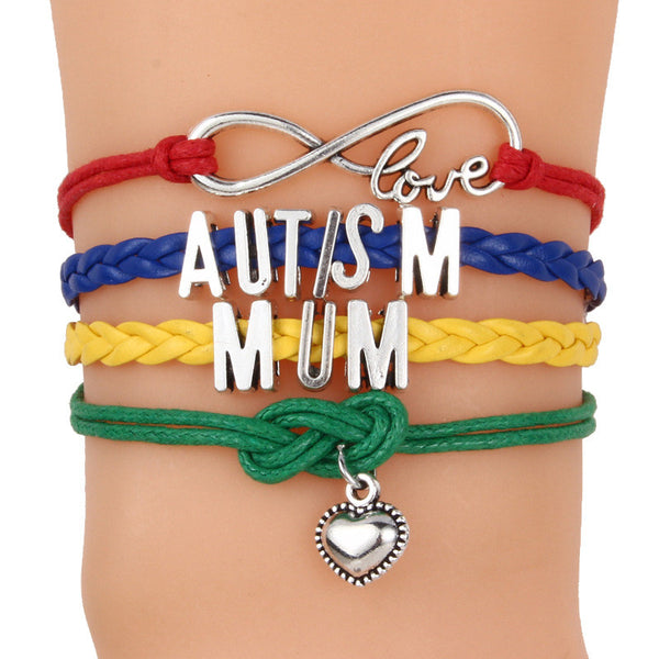 Autism Colorful Braided Bracelet - 210 Kreations  - 8