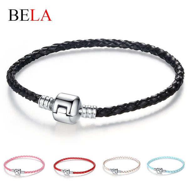 Silver Clasp Leather Bracelet - 210 Kreations  - 1