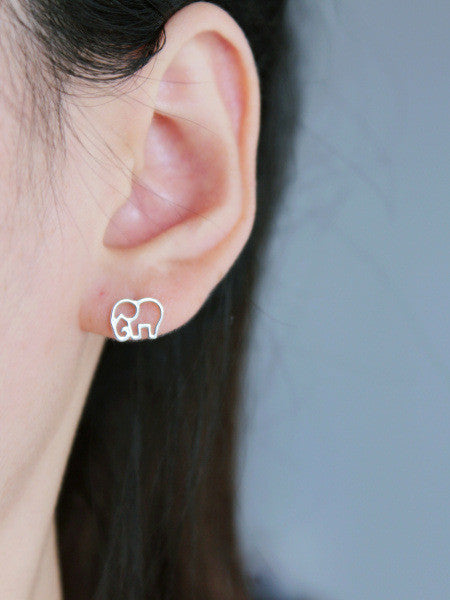 Cute Elephant Outline Earrings (Free + Shipping) - 210 Kreations  - 2