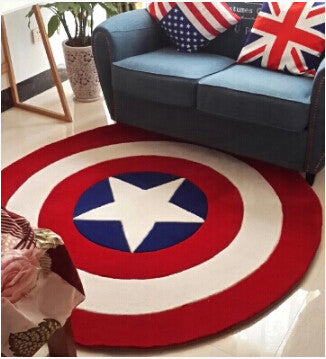 Captain America Round Rug - 210 Kreations  - 1