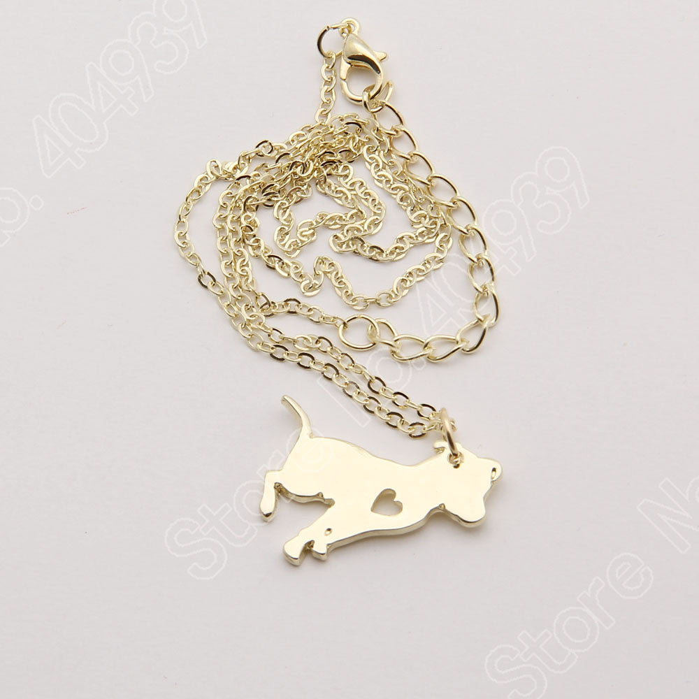 Pit Bull Heart Dog Necklace - 210 Kreations  - 2