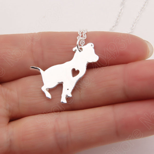 Pit Bull Heart Dog Necklace - 210 Kreations  - 3
