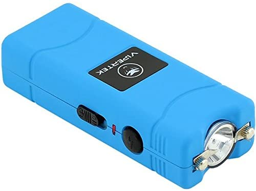 VIPERTEK VTS-881 - Blue Taser - Rechargeable with LED Flashlight