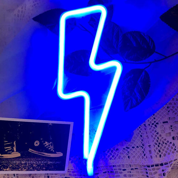 Lightning Bolt Neon Sign for Wall Decor, USB or Battery Decor LED Signs, Neon Lights for Bedroom,Light Up Signs Decorative Neon Light Sign for Home