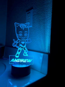 PJ Mask Night Light, Catboy Personalized Night Light, Kids Bedroom Decor, Children's Lights, Nursery Night Light, Kids Bedrooms