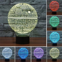 Star Wars Death Star Multi Color LED Lamp