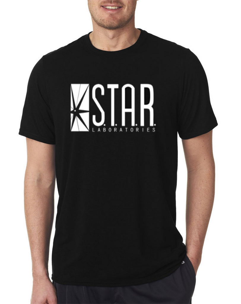 The Flash DC Barry Allen Laboratories Star Labs Black T Shirt - 210 Kreations  - 1
