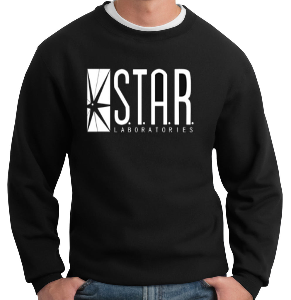 The Flash DC Barry Allen Laboratories Star Labs Black Sweatshirt - 210 Kreations  - 1