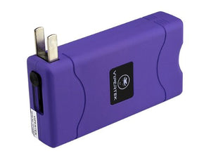 VIPERTEK PURPLE VTS-880 90 MV Mini Rechargeable LED Stun Gun + Taser Case