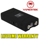 VIPERTEK BLACK VTS-880 90 MV Mini Rechargeable LED Stun Gun + Taser Case