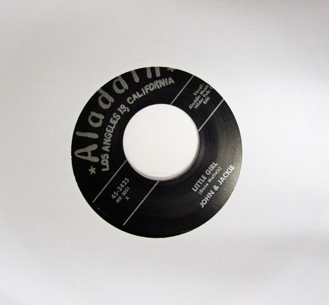 "John and Jackie ""Little Girl"" / ""The Raging Sea""- 45 RPM Record Re-Issue"