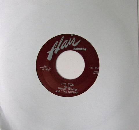 "Shirley Gunter and The Queens ""Oop Shoop""/ ""It's You"" - 45 RPM Record Re-Issue"