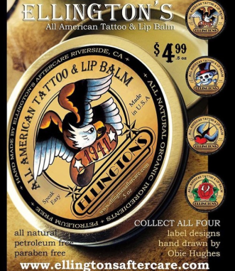 ELLINGTON'S All American Tattoo & Lip Balm